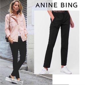 Nwt Anine Bing tuxedo black pants Xs